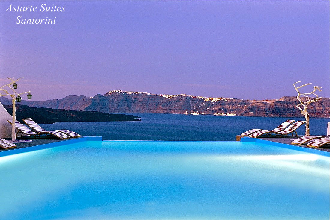 Photo gallery of astarte suites santorini santorini for Hotels in santorini with infinity pools